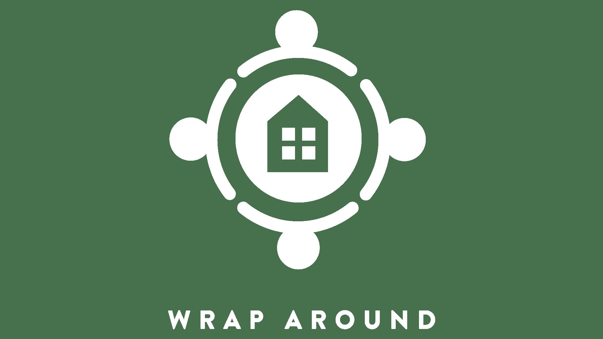 Wrap Around Logo - White